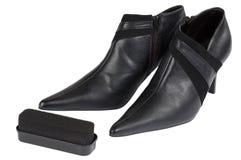 Schuhsorgfalt stockbild