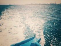 Schuif aan de oceaan Royalty-vrije Stock Afbeeldingen