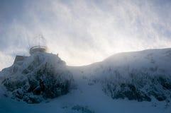Schuilplaats in blizzard Stock Foto's