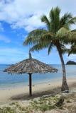 Schuilplaats op het strand Royalty-vrije Stock Afbeeldingen