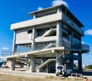 Schuilplaats van tsunami royalty-vrije stock afbeelding