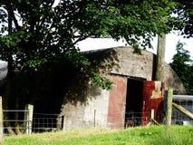 Schuilplaats voor de opslag van het de geitenvoedsel van dierenschapen Royalty-vrije Stock Afbeeldingen