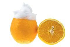 Schuim met vitamine C Royalty-vrije Stock Afbeeldingen