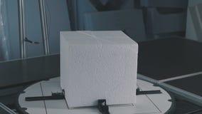 Schuim plastic decor Verwezenlijking van volumetrisch landschap van schuimplastiek stock video