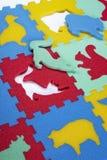 Schuimrubber didactisch speelgoed Stock Foto