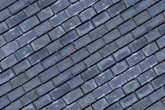 Schuine van de basis donkerblauwe steen rij als achtergrond van een bakstenendeel van het ontwerp van de de muurbasis van de oppe royalty-vrije stock fotografie