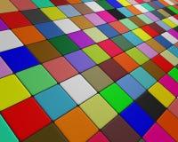 Schuine veelkleurige vloer die aan de horizon vluchten Stock Foto