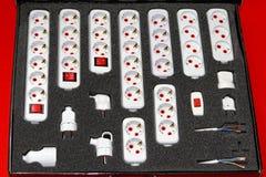 Schuko plugs sockets Stock Image