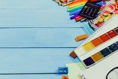Schulausrüstung Lizenzfreie Stockfotos