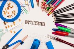 Schulausrüstung Lizenzfreies Stockfoto