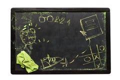 Schulbank skizziert Symbol-Tafel Stockbilder