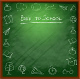 Schulbedarf background1 Lizenzfreies Stockbild