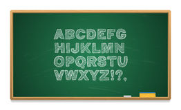 Schulbehörde mit dem Alphabet geschrieben in Kreide Stockfoto