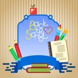Schulbehörde und Werkzeuge Stockbild