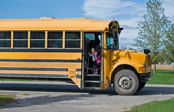 Schulbus-Anschlag Lizenzfreies Stockfoto