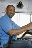 Schulbus-Fahrer Smiling Lizenzfreies Stockbild