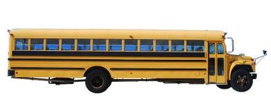 Schulbus getrennt über Weiß stockbilder