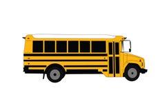Schulbus lokalisiert auf weißer Vektor-Illustration lizenzfreies stockfoto