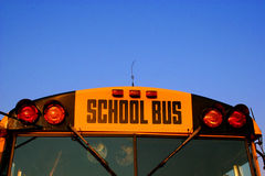 Schulbus-Nahaufnahme Lizenzfreie Stockfotografie