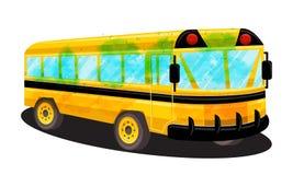 Schulbus-Schablonen-Vektor lokalisiertes Design Stockbild