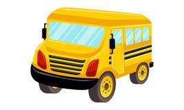 Schulbus-Schablonen-Vektor lokalisiertes Design Lizenzfreies Stockfoto