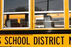 Schulbus Windows Stockbild