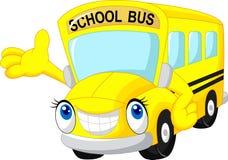 Schulbuskarikatur stock abbildung