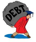 schuld vector illustratie