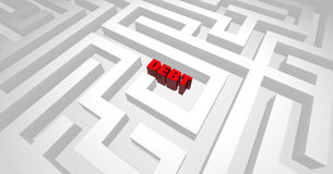 Schuld-Labyrinth Lizenzfreie Stockfotografie