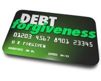 Schuld-Verzeihen-Darlehens-Balancen-Rückzahlungs-Konsolidierungs-Kredit-Auto Lizenzfreie Stockfotos