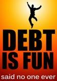 Schulden haben lizenzfreie abbildung