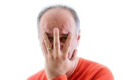 Schuldiger Mann gefüllt mit Reue Stockbilder