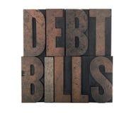 Schuldrechnungen lizenzfreie stockfotografie