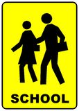 Schuleüberfahrtzeichen stock abbildung