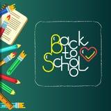 Schule-bunner mit Beschriftung Stockbild