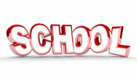 Schule, die Bildungs-Studenten Training Word lernt Lizenzfreies Stockfoto