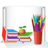 Schule eingestellt auf weißen Hintergrund Lizenzfreies Stockfoto