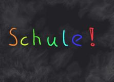 Schule! Royalty Free Stock Image