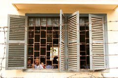 Schule hinter Stäben stockbilder