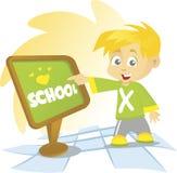 Schule-Junge Stockbild