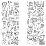 Schule, Kindergartenjungen und Mädchenlesebücher phantasie bibliothek Raum, Reise, Abenteuer lizenzfreie abbildung
