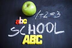 Schule, Klassenzimmer, Tafel Stockfotos