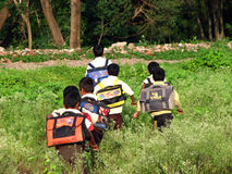 Schule-Lack-Läufer stockfoto