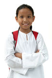 Schule-Mädchen holen Beutel Stockfoto