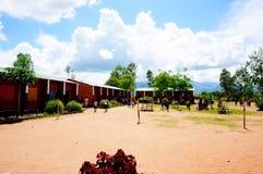 Schule in Malawi, Afrika Stockbild