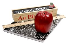 Schule-Material lizenzfreie stockbilder