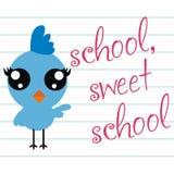Schule, süße Schule stock abbildung
