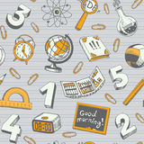 Schule und Ausbildungs-nahtloses Muster Lizenzfreie Stockbilder