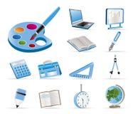 Schule- und Ausbildungsikonen Lizenzfreies Stockfoto