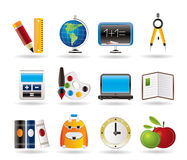 Schule- und Ausbildungsikonen Stockbild